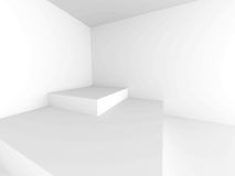 Abstract Architecture Modern Empty Room Interior Background. 3d Render Illustration Royalty Free Stock Images