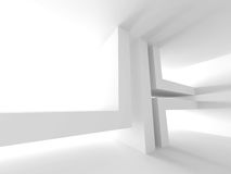 Abstract Architecture Modern Empty Room Interior Background. 3d Render Illustration Royalty Free Stock Image
