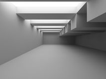 Abstract Architecture Modern Empty Room Interior Background. 3d Render Illustration Royalty Free Stock Photography
