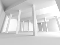 Abstract Architecture Modern Empty Room Interior Background. 3d Render Illustration Stock Images