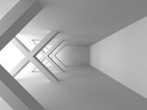 Abstract Architecture Modern White Background. 3d Render Illustration Stock Photography