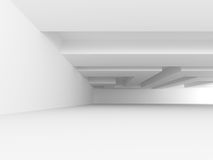 Abstract Architecture Modern White Interior Design Background. 3d Render Illustration stock illustration