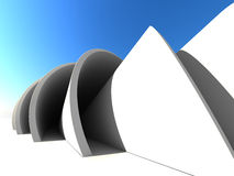 Abstract Architecture Object Outdoor Background. 3d Render Illustration vector illustration