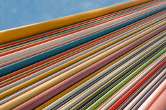 Abstract architecture. Perspective lines in color stock image