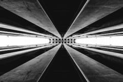 Abstract architecture piece in black and white royalty free illustration