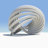 Abstract architecture. Render on the sky background Royalty Free Stock Images