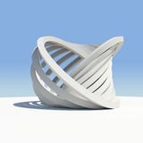 Abstract architecture. Render on the sky background Royalty Free Stock Photos