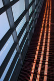 Abstract architecture and sky. Abstract architecture of airport, russia stock photography