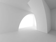 Abstract Architecture Soft Light Background. 3d Render Illustration Royalty Free Stock Images