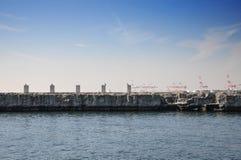 Abstract architecture at tempozan harborland port, osaka, japan Stock Photography