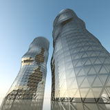 Abstract architecture towers stock illustration