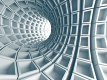 Abstract Architecture Tunnel With Light Background. 3d Render Illustration stock illustration