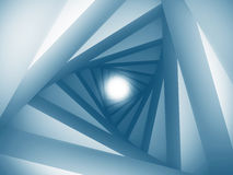 Abstract Architecture Tunnel With Light Background. 3d Render Illustration royalty free illustration