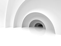 Abstract Architecture Tunnel With Light Background. 3d Render Illustration vector illustration