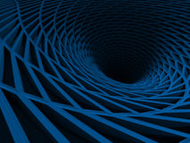 Abstract Architecture Tunnel Stripes Background. 3d Render Illustration stock illustration