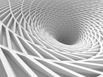 Abstract Architecture Tunnel White Background. 3d Render Illustration royalty free illustration