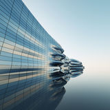 Abstract architecture wall. Abstract architecture of the wall, the image of a business building Royalty Free Stock Images