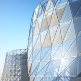 Abstract architecture wall. Abstract architecture of the wall, the image of a business building stock illustration