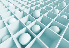 Abstract Architecture Wallpaper. 3d Blue Abstract Architecture Wallpaper royalty free illustration
