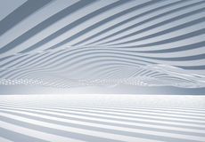 Abstract architecture wave stripes background. Abstract architecture 3d wave stripes background Royalty Free Stock Photos