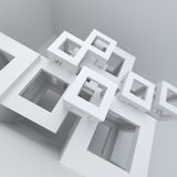 Abstract architecture white building construction Royalty Free Stock Images