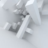 Abstract architecture white building construction. Abstract white architecture 3d render background Stock Photography
