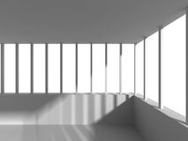 Abstract Architecture White Building Design Background. 3d Render Illustration Royalty Free Stock Image