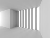 Abstract Architecture White Design Background. 3d Render Illustration Royalty Free Stock Photo
