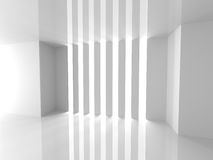 Abstract Architecture White Design Background. 3d Render Illustration Stock Image