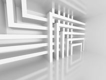 Abstract Architecture White Design Geometric Background. 3d Render Illustration Stock Photography