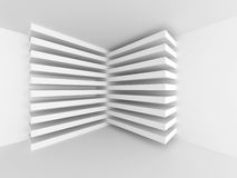 Abstract Architecture White Geometric Background. 3d Render Illustration Stock Images