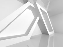 Abstract Architecture White Geometric Futuristic Background. 3d Render Illustration Stock Photos