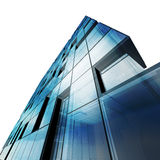 Abstract architecture white isolated. Building design and 3d model my own Stock Image