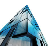 Abstract architecture white isolated. Building design and 3d model my own stock illustration