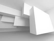 Abstract Architecture White Modern Background. 3dRender Illustration royalty free illustration