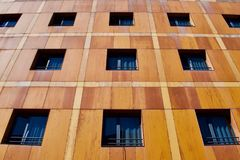 Abstract architecture, windows, Cuenca, Spain royalty free stock images