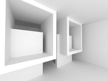 Abstract ArchitectureWhite Geometric Background. 3d Render Illustration Stock Photo