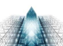 Abstract architectuurconcept het 3d teruggeven Stock Afbeeldingen