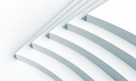 Abstract architectuurfragment met vijf treden vector illustratie