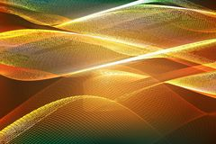 Abstract ardent background. Vector. Abstract orange background of glowing lines royalty free illustration