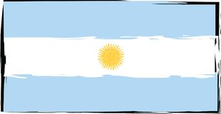 Abstract ARGENTINIAN flag or banner Royalty Free Stock Photo