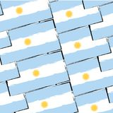 Abstract ARGENTINIAN flag or banner Royalty Free Stock Image