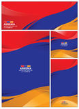 Abstract Armenia Flag Background Stock Photography