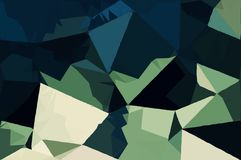 Abstract Army concept low poly bokeh wallpaper Stock Images