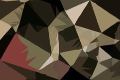 Abstract Army concept low poly bokeh wallpaper Stock Image