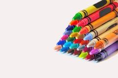 Abstract arrangement of crayons Stock Photos