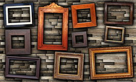 Abstract arrangement of frames Royalty Free Stock Photo