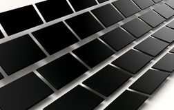 Abstract array of shinny black cubes on white background. 3d render Stock Photography
