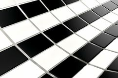 Abstract array of shinny black and white cubes on white background. 3d render. Ing royalty free illustration