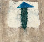 Abstract Arrow. Abstract painting of an arrow pointing Royalty Free Illustration